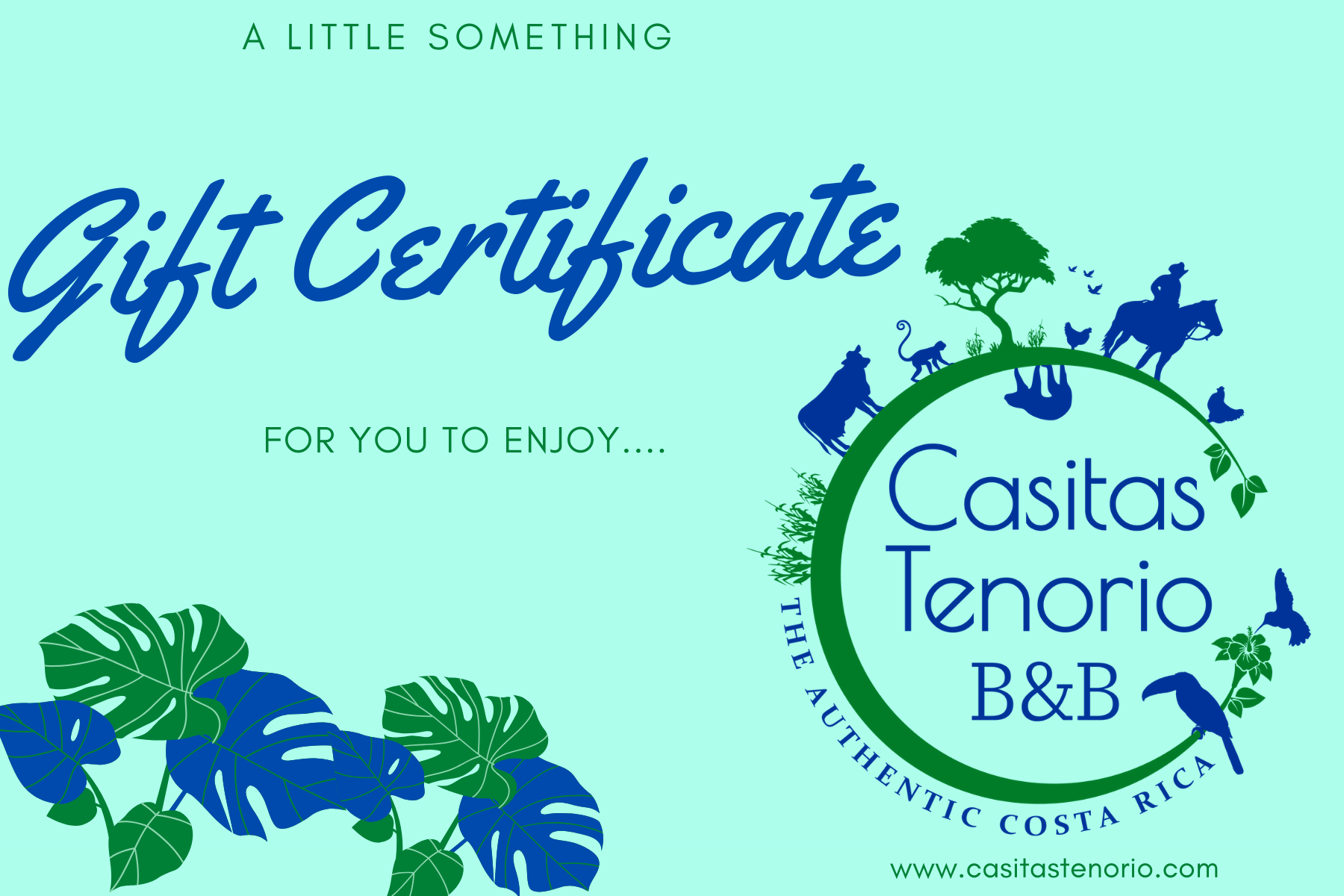 Buy a Gift Card for use at Casitas Tenorio B&B